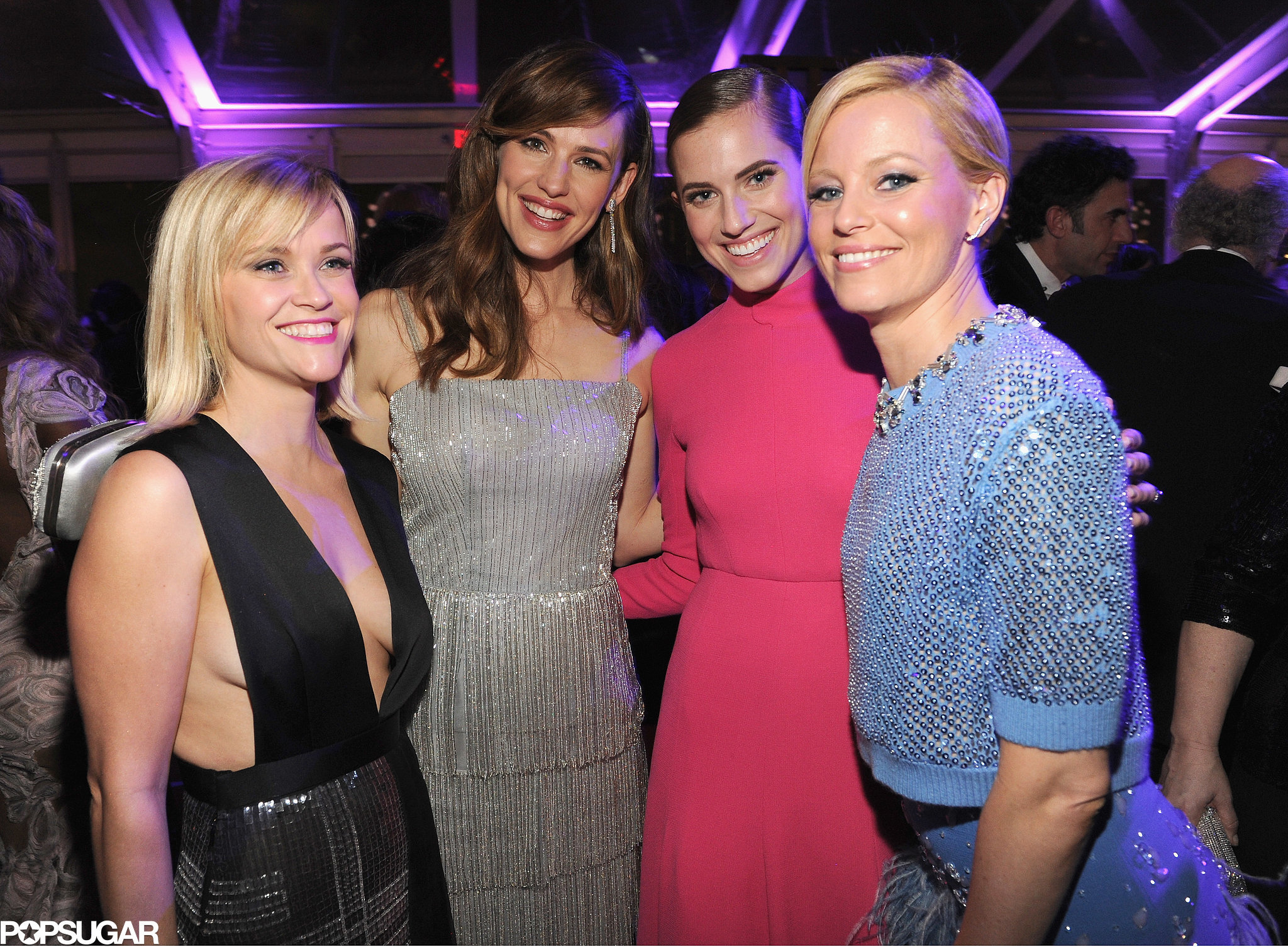 It was ladies' night for Reese Witherspoon, Jennifer Garner, Allison Williams, and Elizabeth Banks at the Vanity Fair afterparty.
