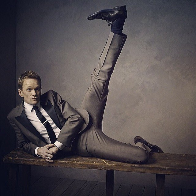 Neil Patrick Harris kicked back.  Source: Instagram user vanityfair