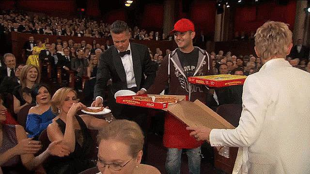 The Oscars Turn Into a Full-On Pizza Party
