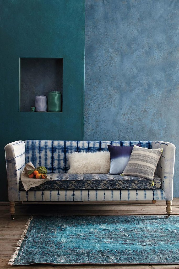 This hand-dyed sofa ($1,998) is the epitome of Anthropologie style. It's laid-back yet structured, vibrant but classic. You could argue it's the most covetable piece in the March catalog.