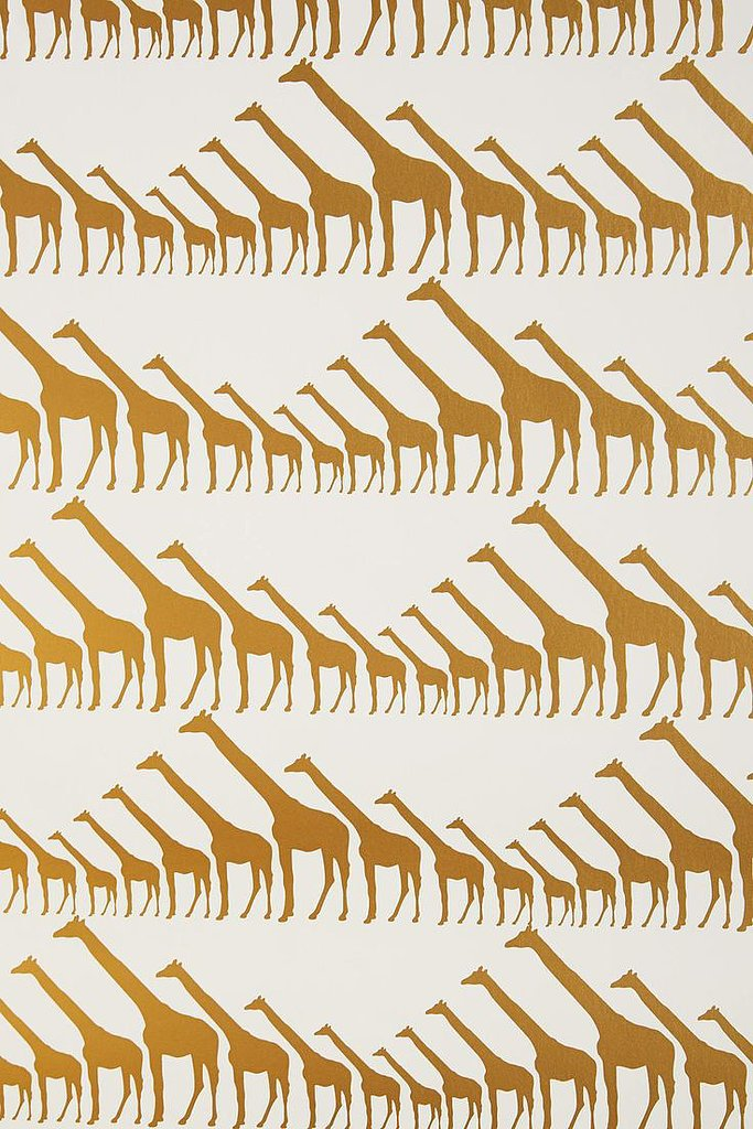 Since we've made it a point to embrace wallpaper, we can't get enough of this gold giraffe print ($348). Since it's expensive, we could justify it on an accent wall or in a small powder room.