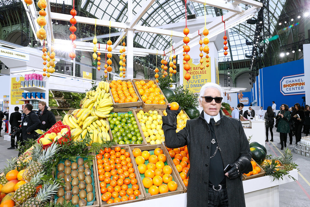 Karl showed off his fruit display.