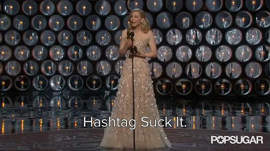 Best Verbal Hashtag: Cate Blanchett