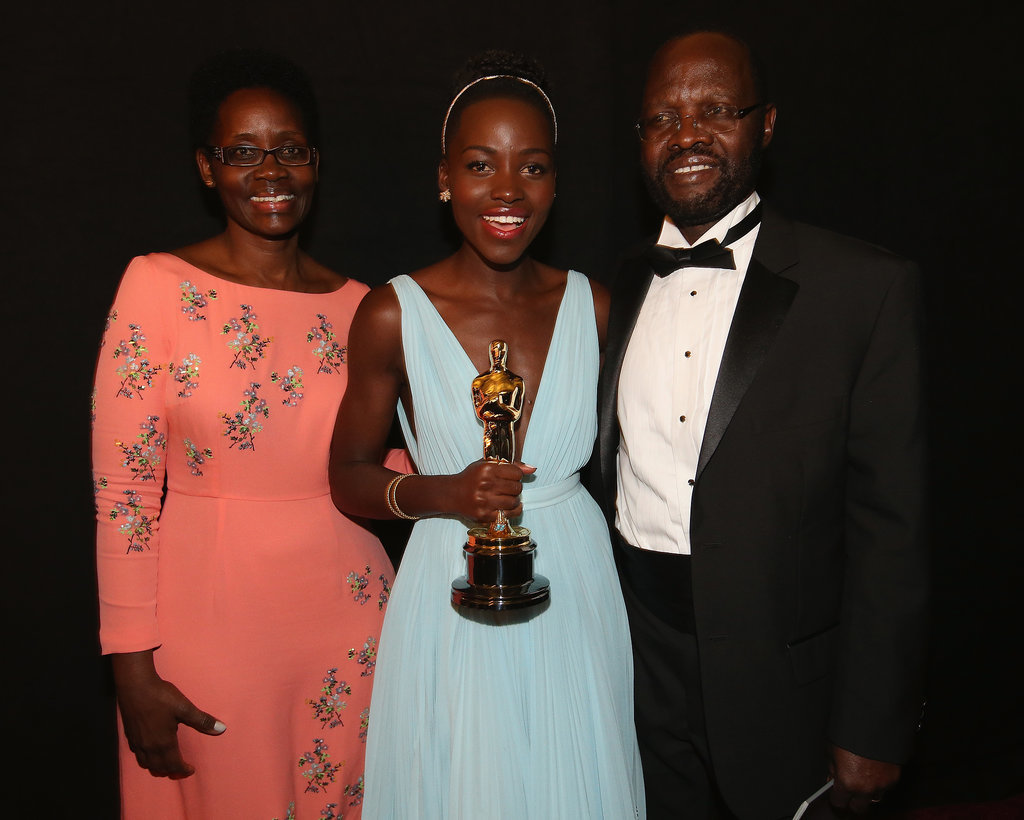 Lupita Nyong'o celebrated her best supporting actress Oscar win with her proud parents, Dorothy and Peter Nyong'o.