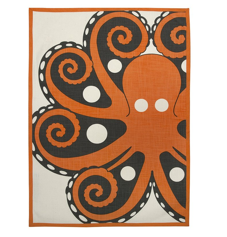 This octopus tea towel ($22) is the perfect dinner party or housewarming gift. The bright colors and fun design add an unexpected touch.