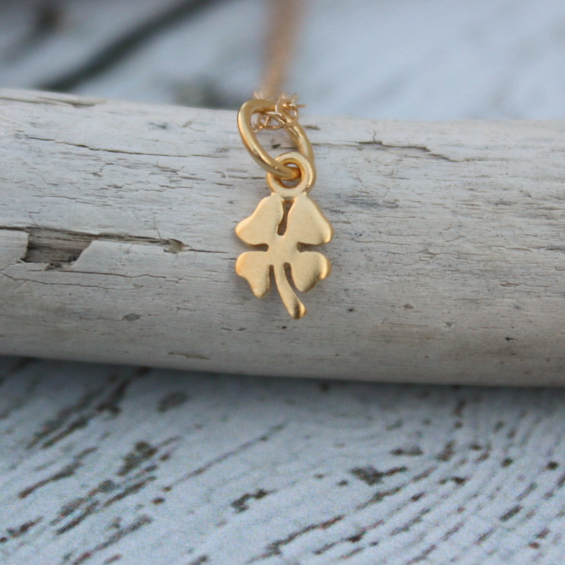 Gold four-leaf clover pendant ($28-$40)