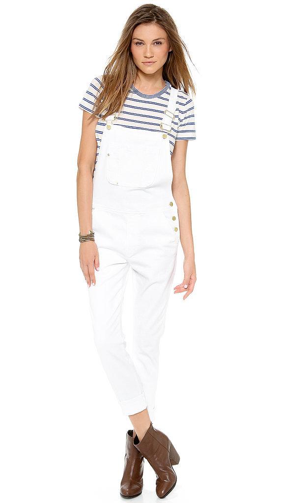"Frame Denim white ""Le Garcon"" overalls ($299)"