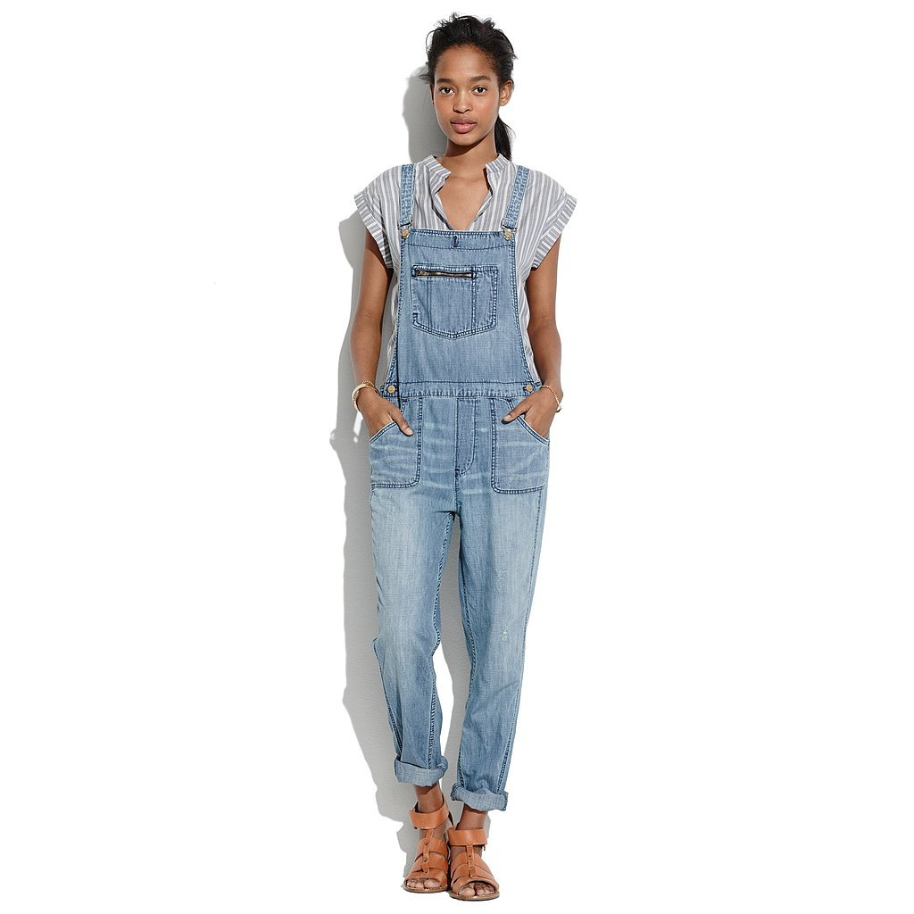 "Madewell light denim ""Park"" overalls ($148)"