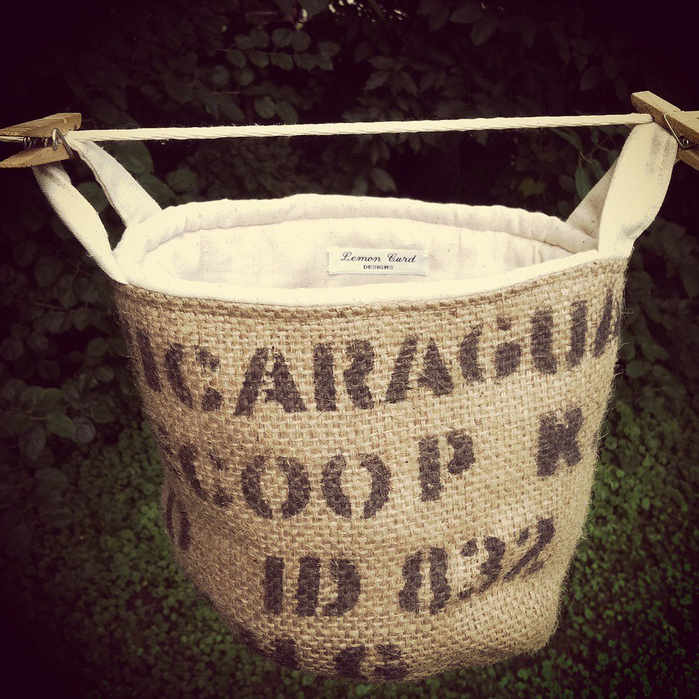 This typography burlap basket ($20) is a great way to combine style and storage.
