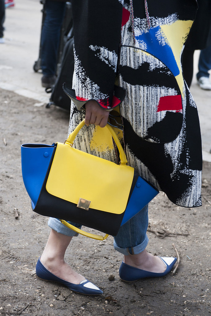 This Céline bag packs quite the color punch.