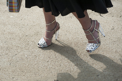 The prettiest kind of footwear can't be easy to walk in, but gosh, does it look good?!