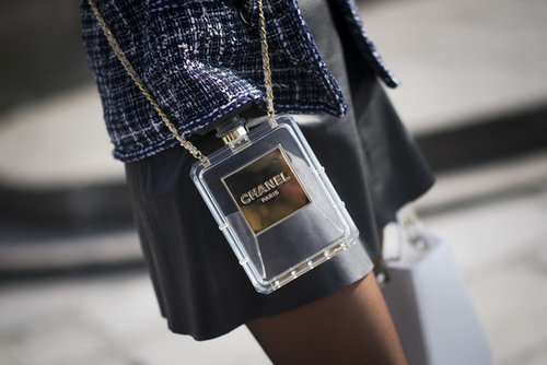 This showgoer was armed with Chanel.