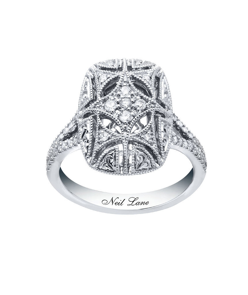Neil Lane diamond and sterling silver ring ($700)