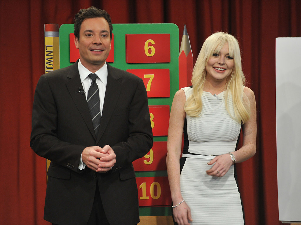 Sporting blond locks, she scored some major comic relief on Late Night With Jimmy Fallon in early 2012.