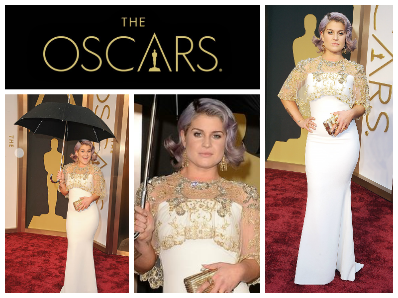 Kelly Osbourne The Oscars Red Carpet E! Live From the Red Carpet Badgley Mischka Judith Leiber Solange LoveGold Aldo