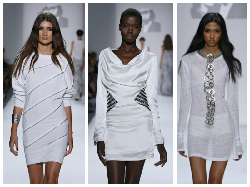 Mark and Estel White Metallics NYFW ss14 Malibu chic