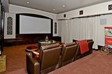 With the house's asking price of over $7 million, a private theater seems like a necessity.  Source: Trulia