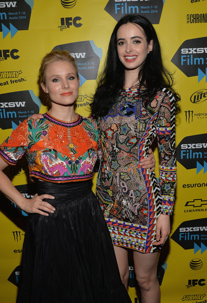 Kristen Bell and Krysten Ritter both donned colorful patterns at the Veronica Mars event on Saturday.