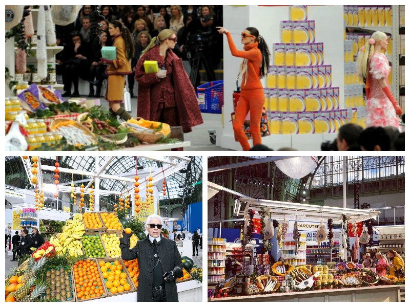 Karl Lagerfeld Chanel Paris Fashion Week Ready to Wear FW/14 Supermarket Chic