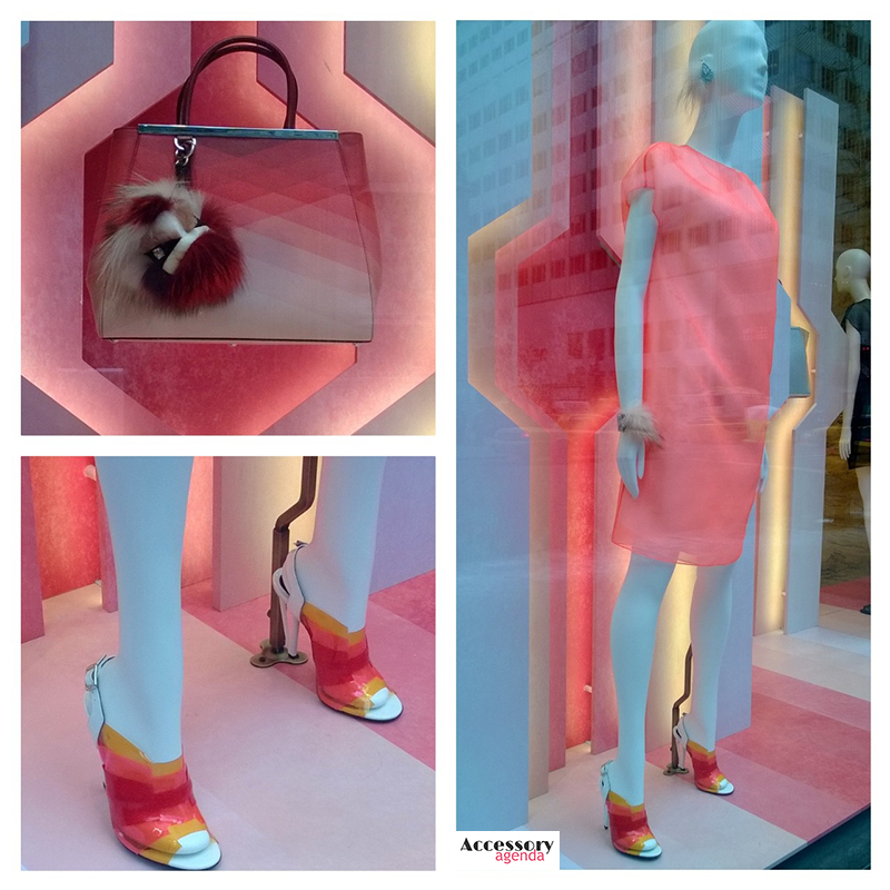 Fendi 5th Ave Window Iridia Layered Sandal
