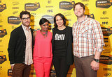 Adam Pally, Anne Fulenwider, and Ike Barinholtz joined Mindy Kaling for her chat about working in TV on Sunday.