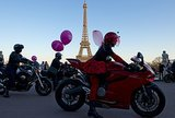 In Paris, women took to motorcycles for an All Women on Bikes event held across France.