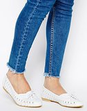 ASOS Joseph White Leather Woven Flats ($47)