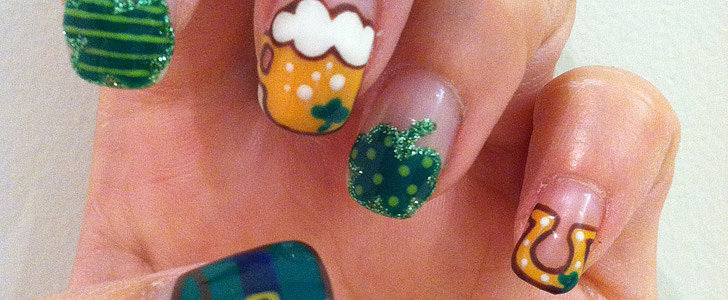 DIY This Adorable St. Patrick's Day Floating Nail Art