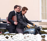 Robert Pattinson rode a motorcycle with costar Dane DeHaan on the set of Life in Toronto.
