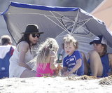 Minnie Driver & Her Boy At The Beach