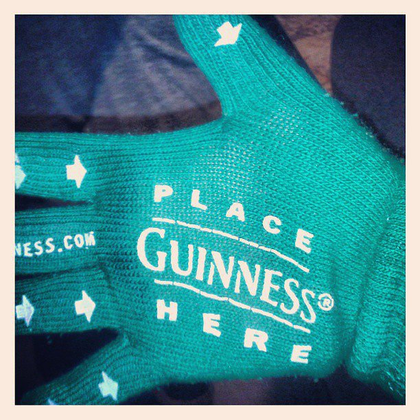 Guinness gloves are a thing.