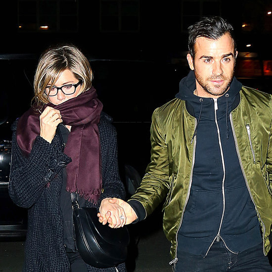 Jennifer Aniston and Justin Theroux in NYC March 2014