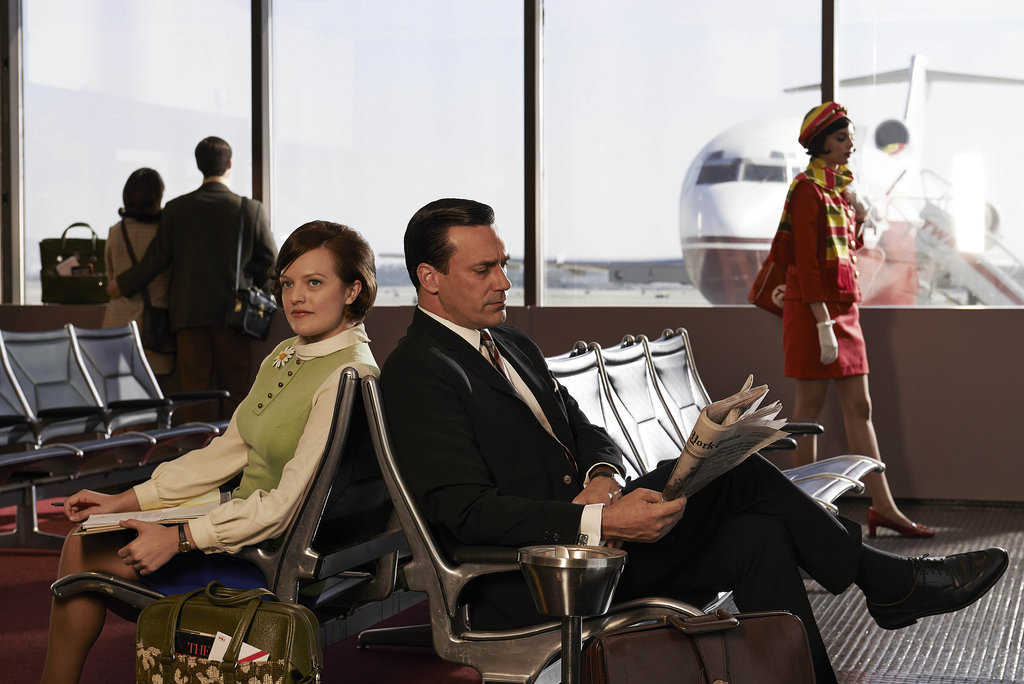 Elisabeth Moss and Hamm as Peggy and Don.