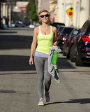 Julianne Hough walked to the gym in LA on Tuesday.