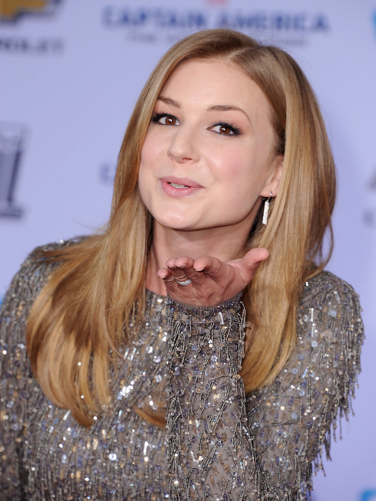 Emily VanCamp blew kisses.