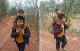 Love Propels Chinese Father To Walk 18 Miles Every Day