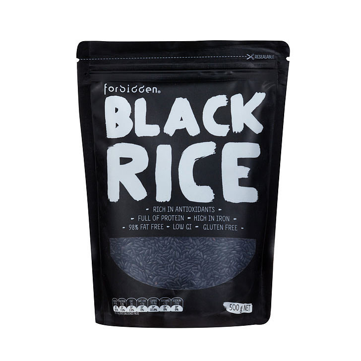 Forbidden Black Rice, $7.95