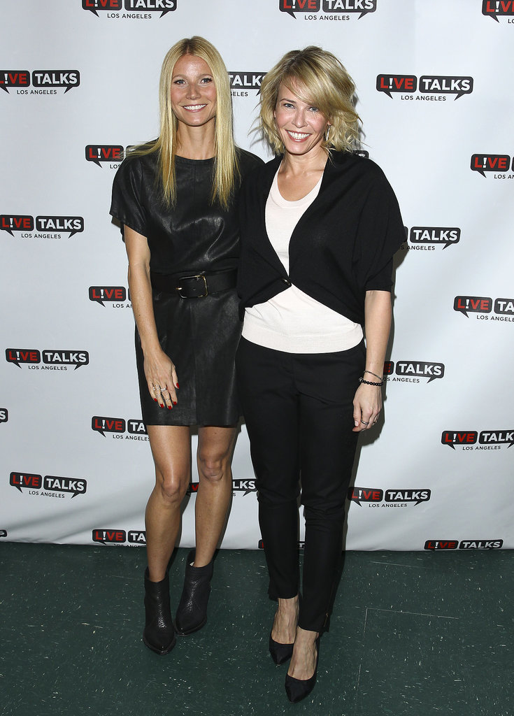 Gwyneth Paltrow and Chelsea Handler buddied up before the actress interviewed the comedienne at an event in LA. The actress announced her separation from husband Chris Martin just a couple weeks later.