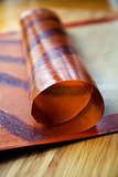 Striped Apple Cinnamon Fruit Leather