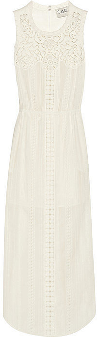 Sea Lace-Paneled Dress