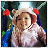 Jimmy Fallon shared a snap of his daughter, Winnie, in a pink bear outfit. Source: Instagram user jimmyfallon