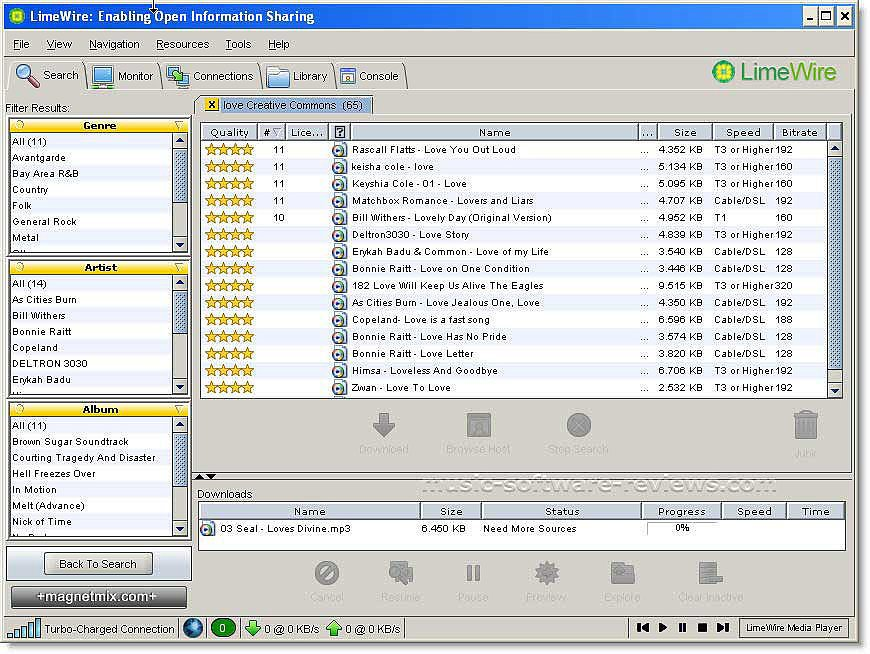 Downloading Music From Kazaa and Limewire