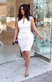 Kim Kardashian stepped out in LA on Monday.