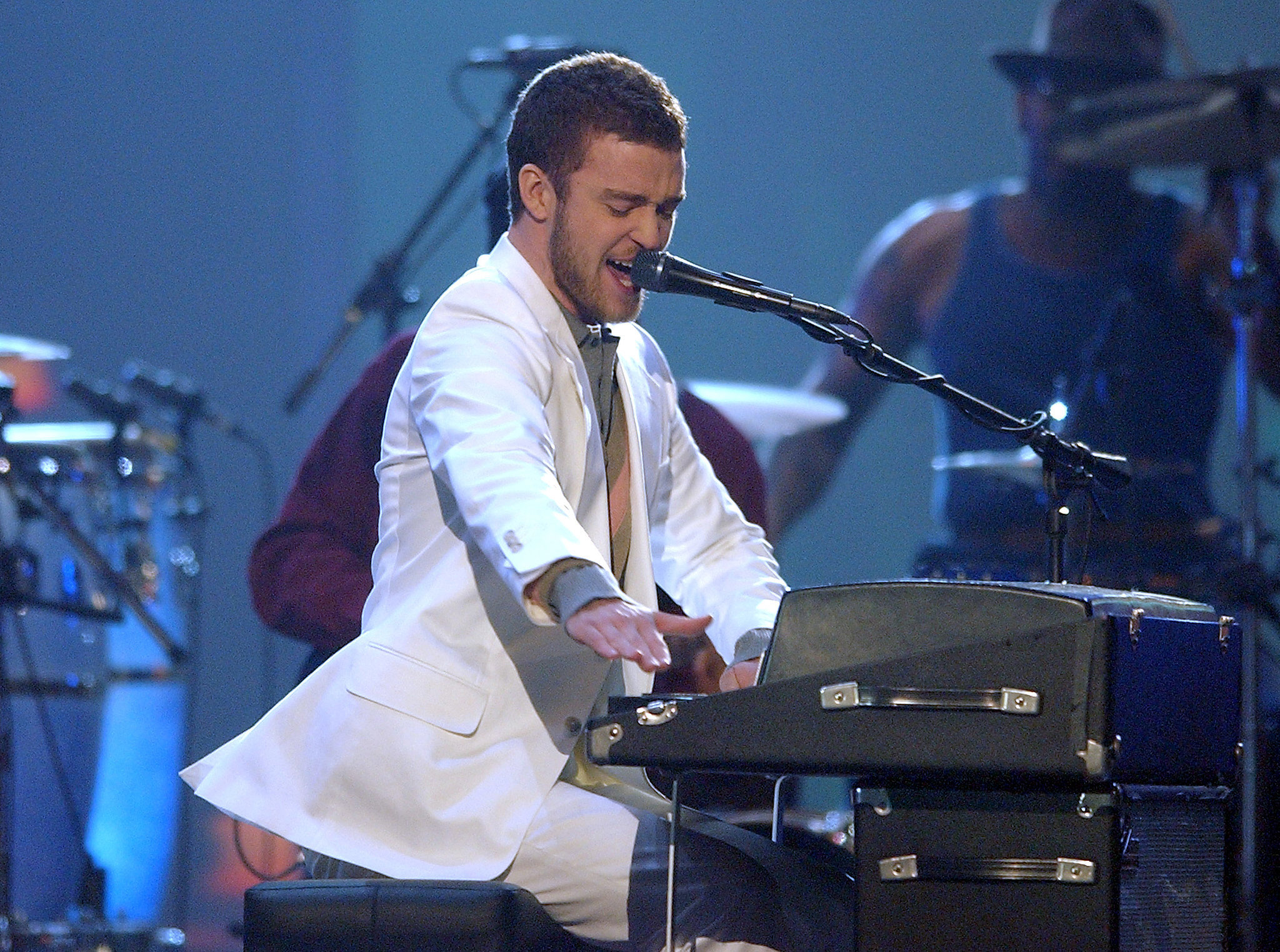 When he rocked the 2004 Grammys stage.