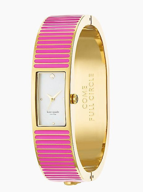 Kate Spade New York Come Full Circle Pink Carousel Bangle Watch ($125, originally $250)