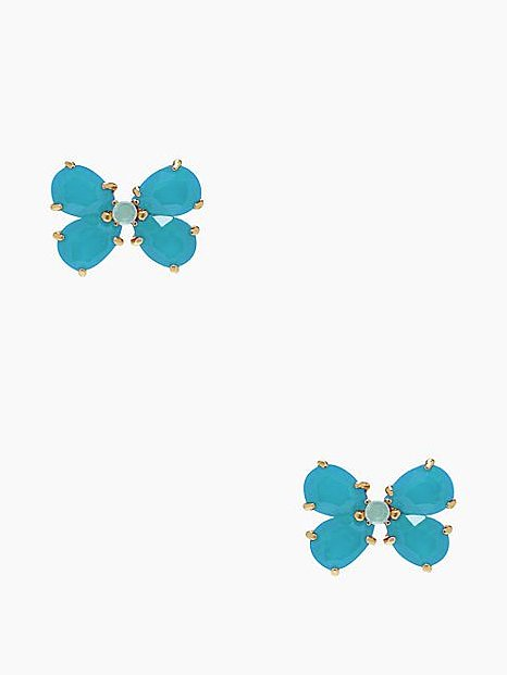 Kate Spade New York Garden Path Blue Stud Earrings ($19, originally $58)