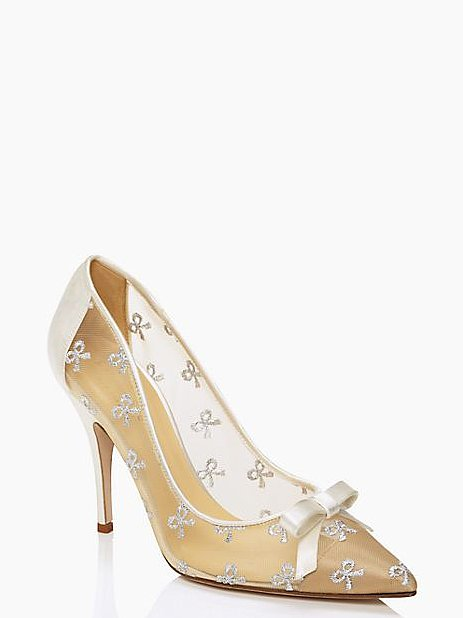 Kate Spade New York Lisa Bow Sheer Heels ($119, originally $328)