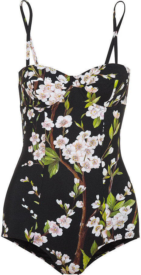 Dolce & Gabbana Printed Underwired Swimsuit ($650)