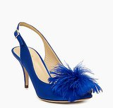 Kate Spade New York Sema Blue Feather Sling-Back Heels ($129, originally $328)