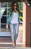Kate Beckinsale in Printed Pants